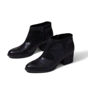 TOMS Women's Loren Booties Black Shimmer - 8.5